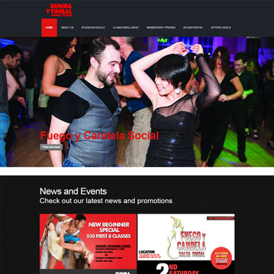 Portfolio Dance Studio Wordpress Image